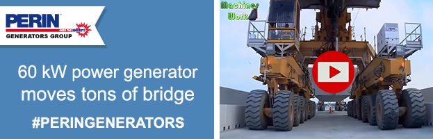 VIDEO: power generator only 60 kW moves tons of concrete bridge!