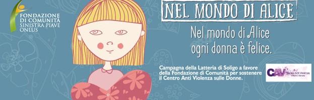 """PERINGENERATORS sponsor e sostenitore del progetto contro la violenza sulle donne """"Nel mondo di Alice ogni donna è felice"""""""
