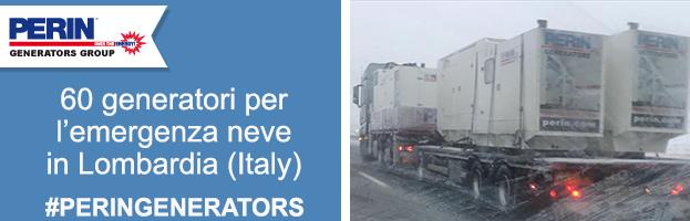 PERINGENERATORS salva  l'emergenza  black out neve in Lombardia!