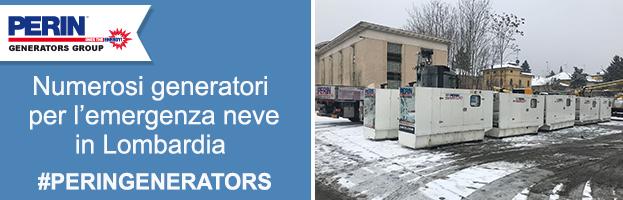 Nuove spedizioni di generatori di corrente per l'emergenza neve in Lombardia