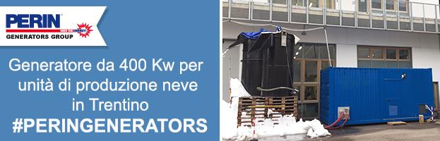 Generatore da 400 Kw per unità di produzione neve in Trentino