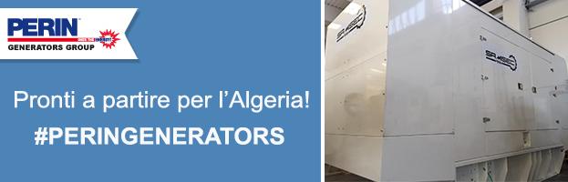 PERINGENERATORS: generatore pronto a partire per l'Algeria (Africa)
