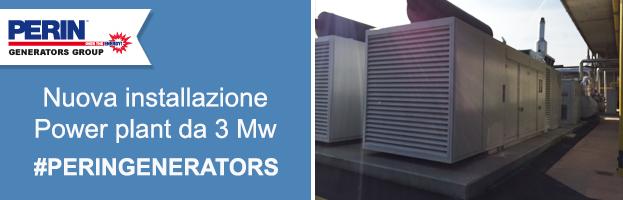 Nuova installazione di PERINGENERATORS: power plant da 3 Mw
