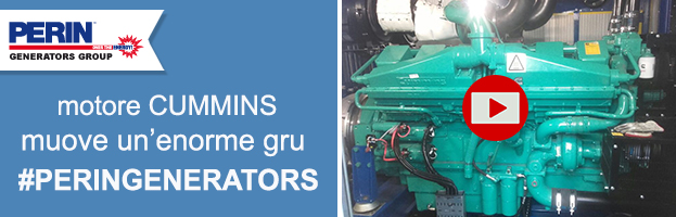 VIDEO: generatore con motore Cummins muove un'enorme gru