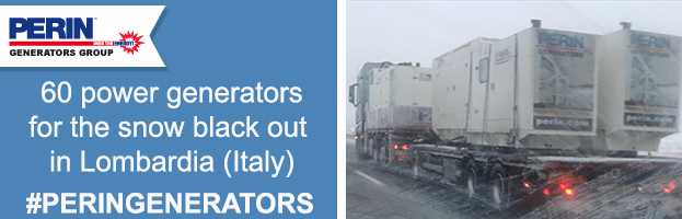 PERINGENERATORS saves the snow black out emergency in Lombardia (Italy)
