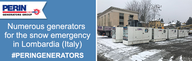 New shipments of power generators for the snow emergency in Lombardy (Italy)