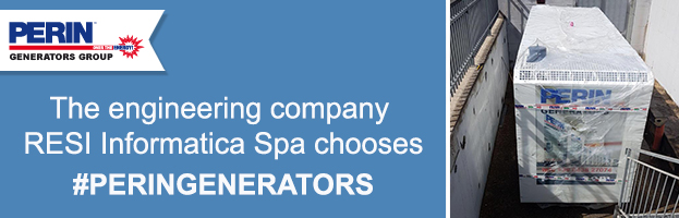 RESI Informatica Spa congratulates PERINGENERATORS for its excellent quality and service