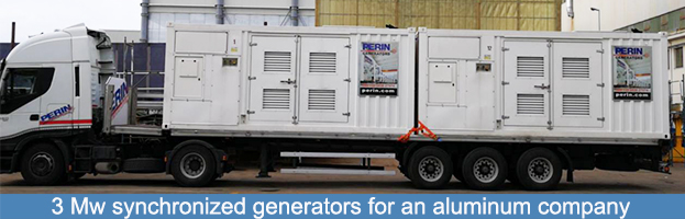 Synchronized 3 MW generators for an aluminum company: new delivery by PERINGENERATORS