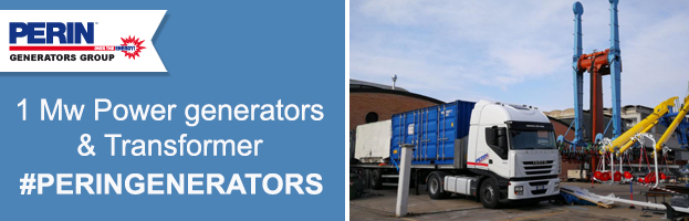 1 Mw Power Generators & Trasformer to traveling shows sector: new delivery by PERINGENERATORS