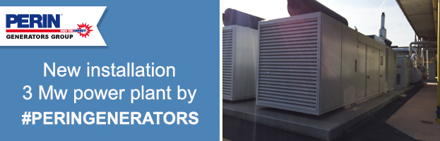New delivery by PERINGENERATORS: 3 Mw power plant