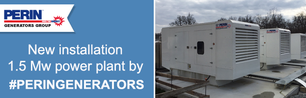 New delivery by PERINGENERATORS: 1.5 Mw power plant