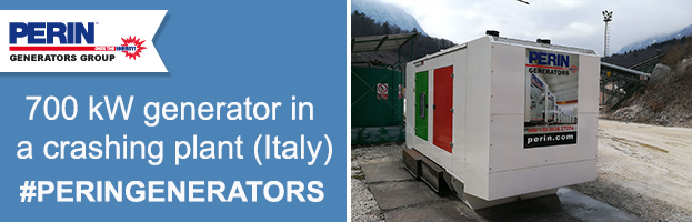 PERINGENERATORS new installation: 700 kW generator in a stone crashing plant (Alpago – ITALY)