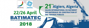 22-26 April: PERINGENERATORS at BATIMATEC EXPO 2018 (Algiers, Algeria)