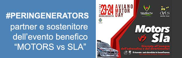 """VIDEO: PERINGENERATORS partner e sostenitore dell'evento a scopo benefico """"MOTORS vs SLA"""""""