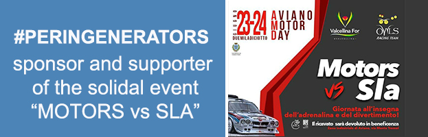 "VIDEO: PERINGENERATORS partner and supporter of the solidal event ""MOTORS vs SLA"""