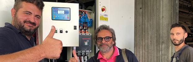 Clienti soddisfatti durante i loading test di un nuovo generatore di PERINGENERATORS