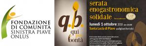 """01 ottobre: serata enogastronomica Solidale """"Q.B. Qui per bontà"""""""