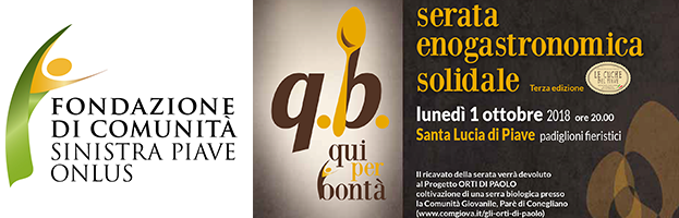 """October 01st: Solidarity event """"Q. B. Qui per bontà"""" (Treviso – Italy)"""