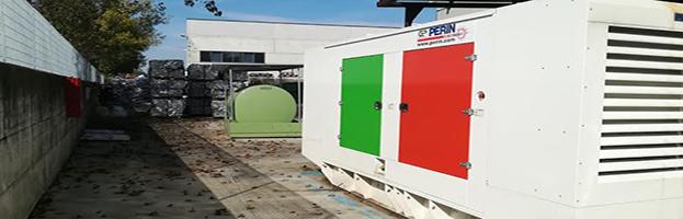 New installation Italian flag edition: 600 kW generator
