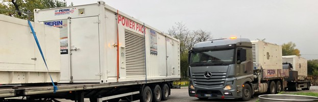 WE NEVER STOP: new shippings of power generators
