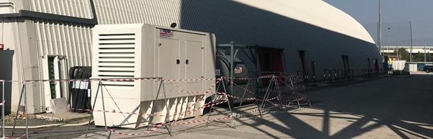 Padua ice rink chooses PERINGENERATORS: 500 kW generator