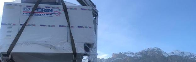 Power generators installed in mountain