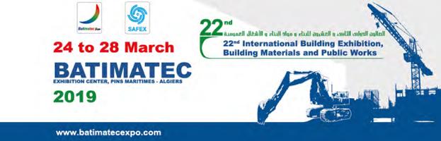24-28 marzo: PERINGENERATORS alla fiera BATIMATEC 2019 (Algeri – Algeria)