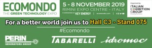05-08 November: PERINGENERATORS GROUP at ECOMONDO with Tabarelli Spa e Idromec Spa (Rimini, ITALIA)