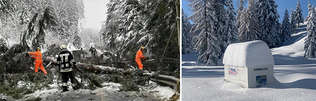 PERINGENERATORS salva  l'emergenza  black out neve in Alto Adige!