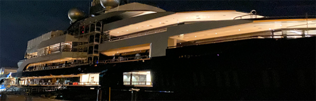 Naval field: a 160 mt mega yacht powered by PERINGENERATORS