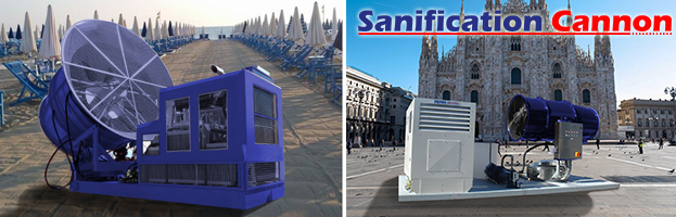 SANIFICATION CANNON: i nuovi cannoni spara disinfettattante di Peringenerators Group