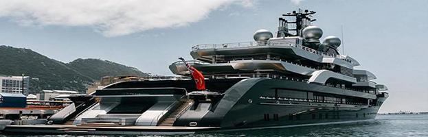 NAVAL FIELD: huge yacht powered by generators of PERINGENERATORS GROUP