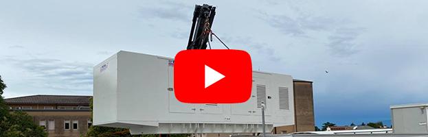 VIDEO & PHOTOS: installation of power generators with a big crane